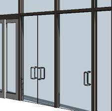 curtain wall swing panels 3d model
