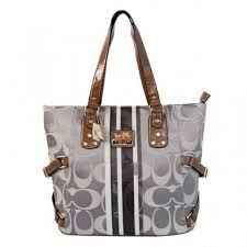 Coach In Signature Logo Medium Grey Totes BFD