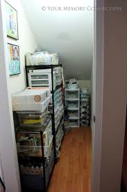 Under the stairs closet - craft & photography prop storage