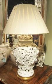 italian blanc de chine temple vase lamp