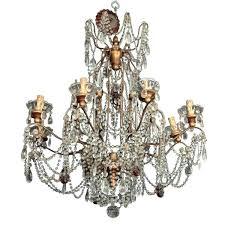 italian crystal chandelier italian brass