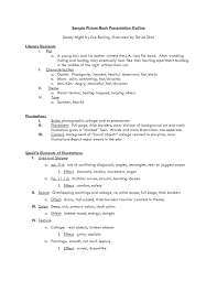 Working Outline Example Detailed For H Paper Template Apa Style