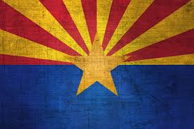 high resolution flag of arizona metal texture