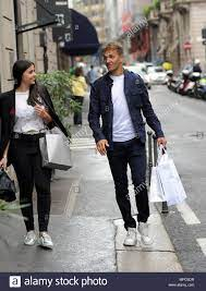 """Milan, Domenico Criscito and wife after National convocation shopping  Dominic """"Mimmo"""" Criscito, Zenith defender - Russian championship, just  called up by Roberto Mancini, will be back from July 1st to be captain"""