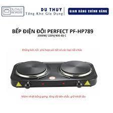 Bếp điện đôi Perfect PF-HP789 hàng nhập khẩu chính hãng - Bếp điện kết hợp  Thương hiệu PERFECT