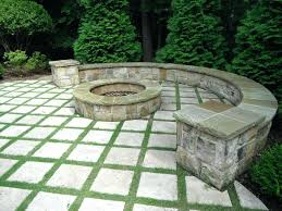 patio with square fire pit. Patio Stone Ideas Square Fire Pit Traditional With Grass And Paver Backyard