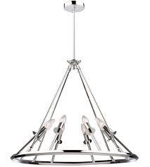 artcraft ac10938ch gravity 8 light 27 inch chrome chandelier ceiling light