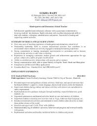 School Teacher Resume Samples Teacher Resume Drive On Elementary