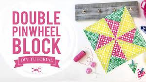 Time to Fiesta- Double Pinwheel Quilt Block Tutorial - YouTube & Time to Fiesta- Double Pinwheel Quilt Block Tutorial Adamdwight.com
