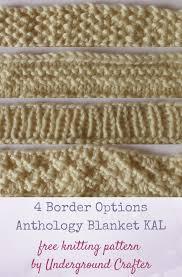 Free Afghan Knitting Patterns Circular Needles Extraordinary Knitting Patterns 48 Border Options Anthology Blanket