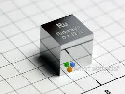 Ruthenium density <b>cube 10x10x10mm</b> - 12g - Hand <b>polished</b> high ...