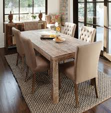 Metal And Wood Kitchen Table Dining Room Carpet Ideas Dark Wood Dining Table Brown Varnished