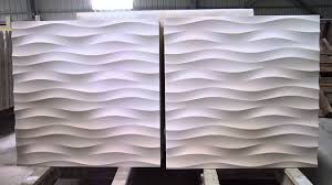 3d feature stone wave wall panel design you