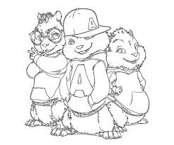 Small Picture 16 best Alvin and the Chipmunks Coloring Pages images on Pinterest