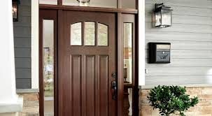 front door with glass inserts and sidelights