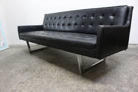 rare black vinyl sofa by milo baughman for james inc at stdibs
