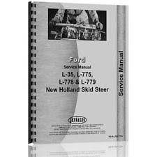 new holland manual heavy equipment parts accessories service manual for new holland l35 l775 skid steer loader chassis only