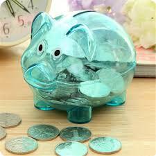 <b>2019 New Arrival Cute</b> Plastic Money Box Transparent Money ...
