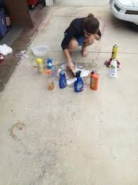 how to clean spray paint off a driveway