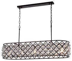laila crystal chandelier oil rubbed bronze