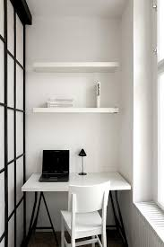 tiny office ideas. Brilliant Office Small Office Ideas With Black Laptop Closed Desk Lamp On Square Table Front  Simple White Chair Beside Glass Window Plus Cute Book Storage Tiny O