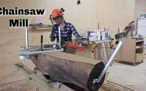 crazy simple chainsaw mill how to slab logs