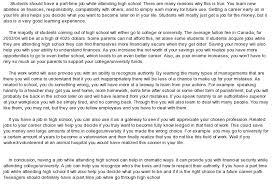 essay on jobs twenty hueandi co part time job essay