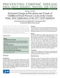 Pdf Estimated Change In Prevalence And Trends Of Childhood