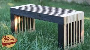making a reclaimed outdoor sitting bench from an old door