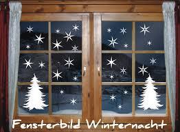 Fenstertattoo 40 X Sterne Tannenbaum Winternacht Weihnachten