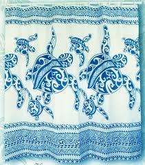 hawaiian shower curtains fabric