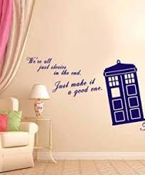Life Quote Wall Stickers We Are All Stories Doctor Life Inspirational quote Wall Decal 66