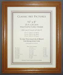 10x8 inch antique pine wood picture frame