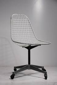early charles eames pkc wire rolling task chair for herman miller at 1stdibs