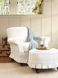 Living Room Chair With Ottoman Unbelievable Slipcovers For Living And Dining Rooms Hgtv