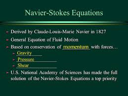 7 navier stokes equations