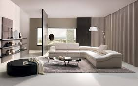living room with bed: wonderful studio apartment decoration with black white color combination l shape comfy white sofabed white