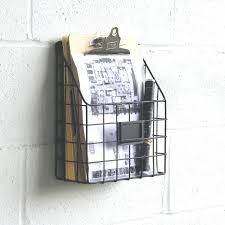 metal wall file holder single hanging organizer decorative