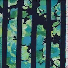 Navy/Turquoise Mottled <b>Floral Stripe</b> Scuba Knit - 80701 | <b>Fashion</b> ...