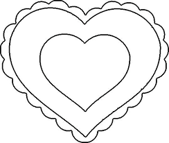 Heart Coloring Pages Printable Valentines Day Heart Coloring Pages