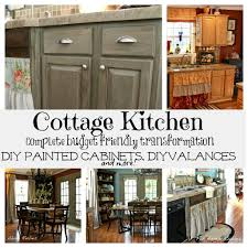 Small Cottage Kitchen Cottage Kitchen Makeover Painted Kitchen Cabinets Diy