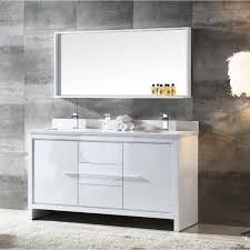 60 inch bathroom mirror. 60 Double Sink Bathroom Vanities. Unique Vanities Fresca Allier 60inch White Modern Inch Mirror