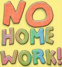 Image result for no homework clipart