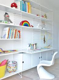 Childrens Bedroom Shelving Ideas Modern And Minimal Wall Shelves For Kids  Rooms The String Shelf Blue . Childrens Bedroom Shelving ...