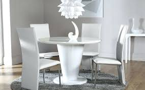 full size of komoro white high gloss dining table with 4 perth chairs round and set