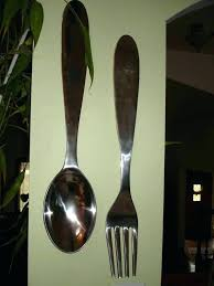 giant wooden spoon and fork spoon and fork wall decor classic giant spoon and fork wall decor pottery barn wooden fork