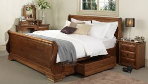 king size sleigh bed. Brilliant King Wooden Sleigh Beds Traditional Oak King Size Bed Frames  Revival  Beds To N