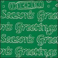 Seasons Greetings Words Green Peel Off Stickers 1 Sheet 0 79