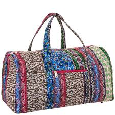 Pink Boho Quilted Duffle Bag 22