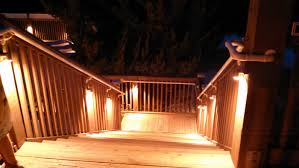 deck stair lighting ideas. Lights For Deck Railing Also Outdoor Lighting Ideas Picture Stair